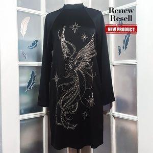 H&M Studded Applique Back Detail Chemise Dress
